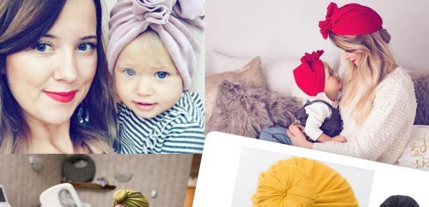 Modne turbany dla niemowlaka i mamy (tylko jeśli chcecie zachwycić wszystkich!)