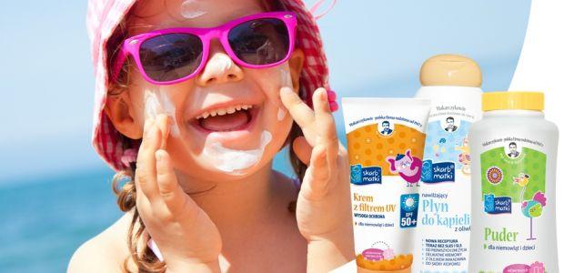 """Wygraj 1 z 7 zestawów kosmetyków pielęgnacyjnych dla dzieci Skarb Matki. Konkurs """"Na słońcu"""""""