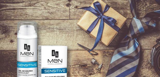 """Wygraj 1 z 8 zestawów kosmetyków AA Men Sensitive. Konkurs """"Prezent dla niego"""""""