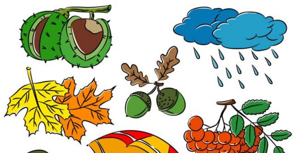 Symbole Jesieni Jesienne Kolorowanki Dla Dzieci Mamotoja Pl