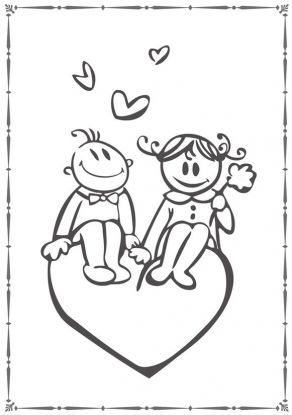Walentynkowe Kolorowanki Laurki Dla Dzieci Do Druku Mamotoja Pl