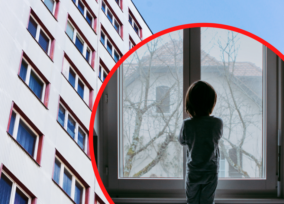 2,5-latek wypadł z okna w Poznaniu