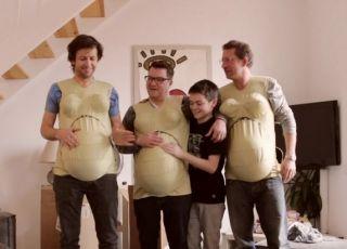 3 tatusiów w ciąży, mężczyźni w ciąży