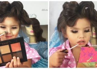 4-latka w makijażu