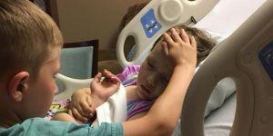 6-latek pożegnał umierającą 4-letnią siostrę