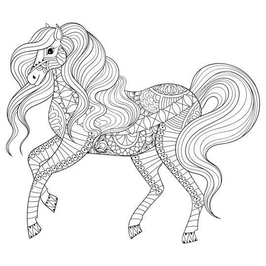 kolorowanka konie bajkowy koń