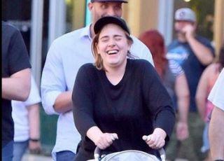 Adele z synkiem w Disneylandzie
