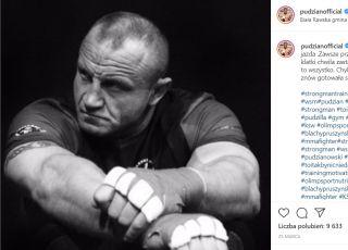 Mariusz Pudzianowski na Instagramie