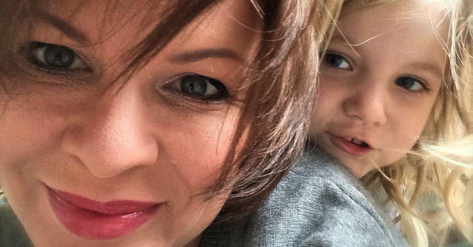 Agata Komorowska ze swoją córeczką, 5-letnią Adą