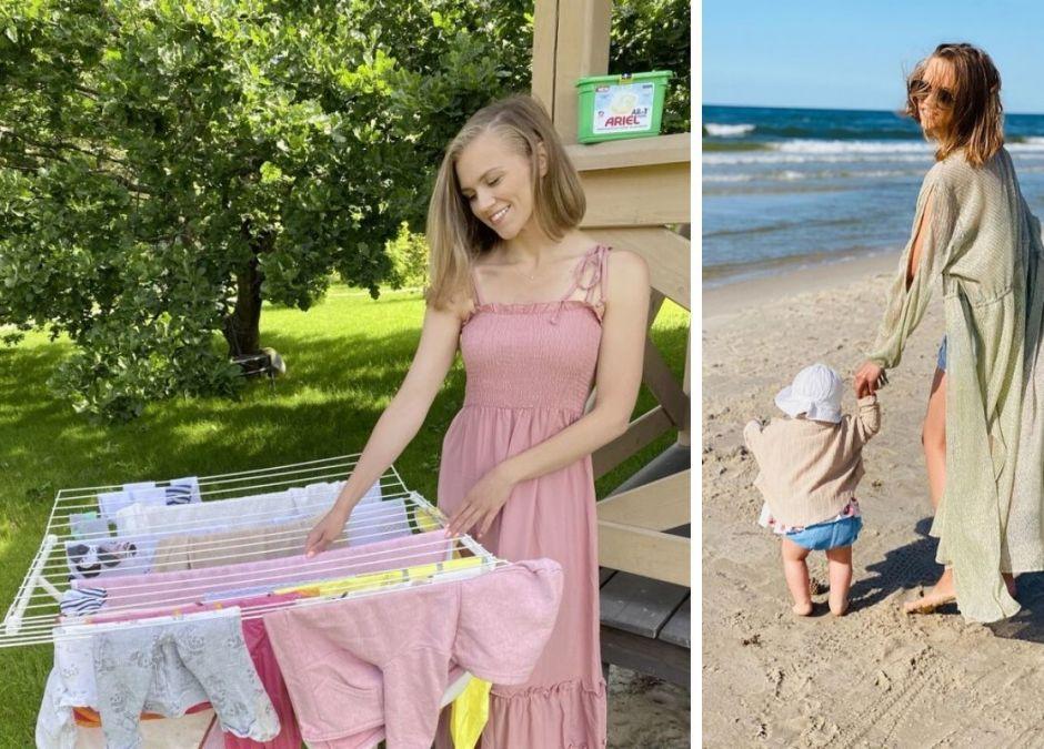 Agnieszka Kaczorowska skrytykowana za to, że robi pranie na wakacjach