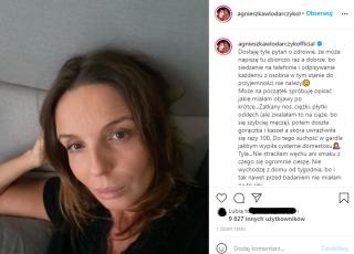 Agnieszka Włodarczyk ma koronawirusa