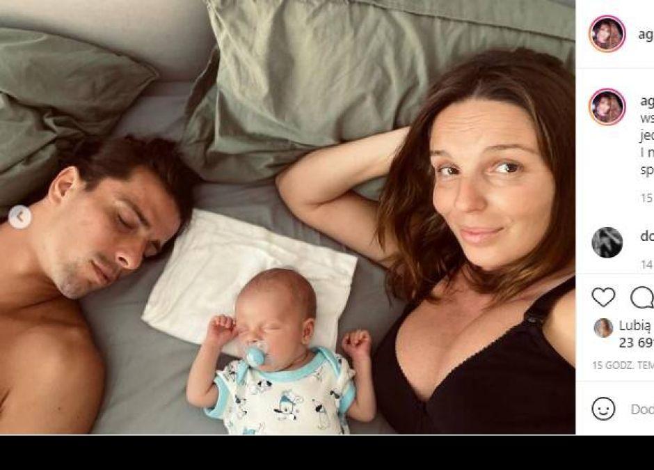Agnieszka Włodarczyk śpi z dzieckiem w jednym łóżku