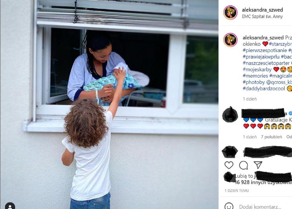 Aleksandra Szwed pokazała pierwsze spotkanie swoich dzieci