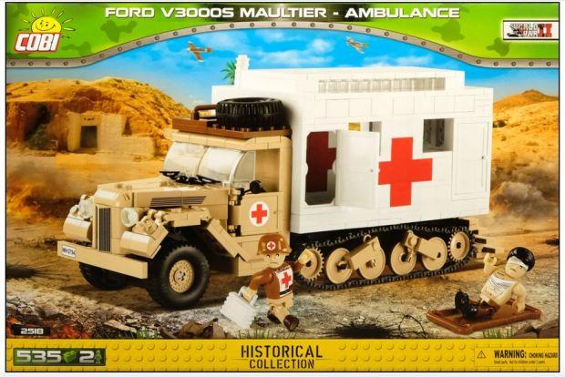 historyczny ambulans klocki Cobi
