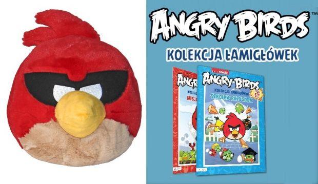 Angry Birds maskotka i kolekcja łamigłówek