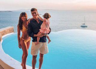 Ania, Robert i Klara Lewandowscy na wakacjach