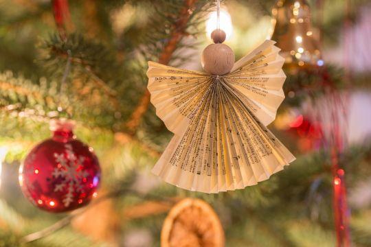 ozdoby choinkowe z papieru - aniołek