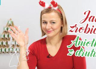 aniołki z drutu na choinkę, jak zrobić ozoby świąteczne
