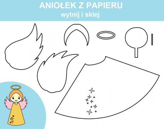 aniołki z papieru szablony