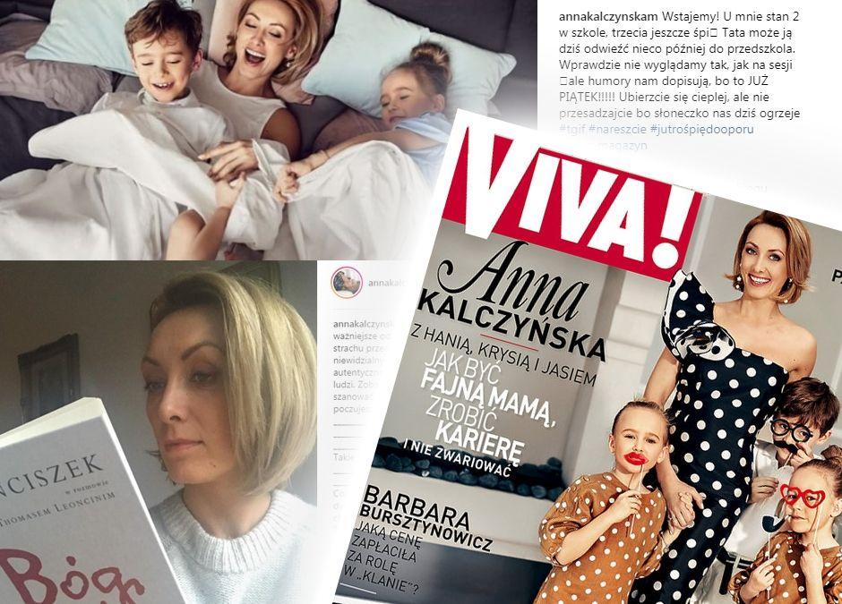 Anna Kalczyńska ze swoimi dziećmi w sesji i wywiadzie dla Vivy