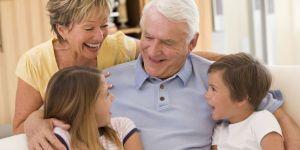 babcia, dziadek, wnuczek, wnuczka, dziadkowie