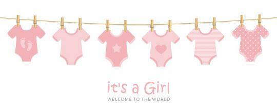 baby shower napis do druku dziewczynka