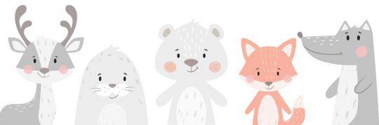 baby shower dekoracje do druku zwierzątka