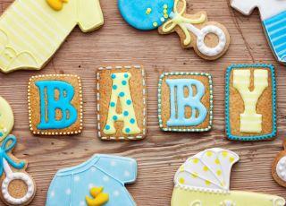 baby shower, pierniczki na przyjęcie
