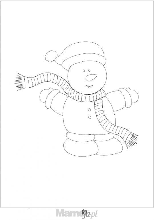 świąteczna bałwanek - kolorowanki Boże Narodzenie