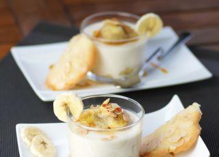 banan, krem, budyń, deser