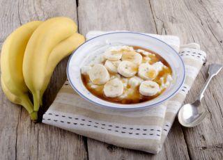 banan, ryż, owsianka, muesli, deser, śniadanie
