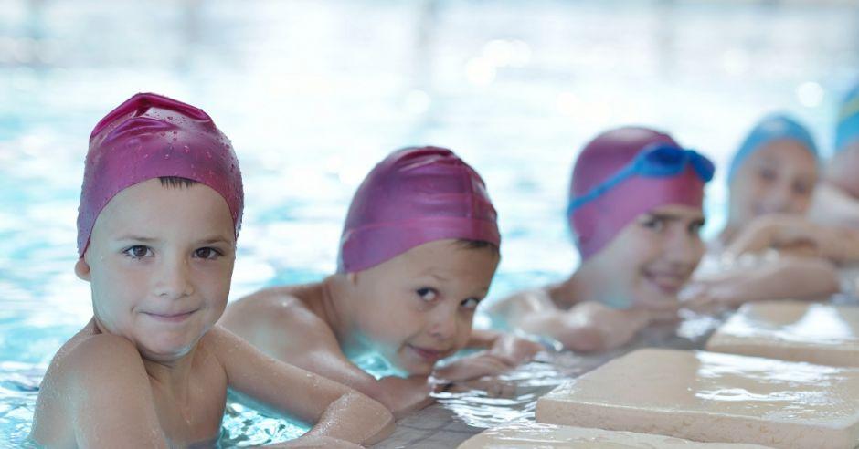 basen, trening, dzieci, woda, sprot