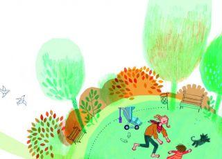 Basia i Franek: wiosenny spacer