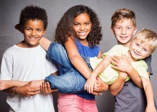 Białe i czarne dzieci