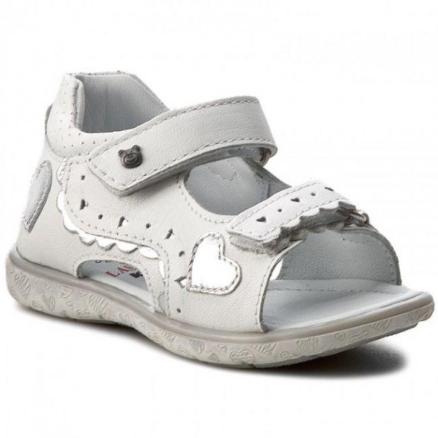 białe skórzane sandałki dla dziewczynki lasocki kids ccc eobuwie.pl 62.99zł z 89.99zł.jpg