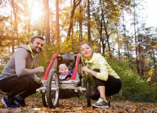Bieganie z dzieckiem, z wózkiem