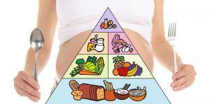 brzuszek, odżywianie w ciąży, piramida żywienia, sztućce, łyżka, widelec