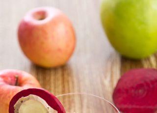 burak, napój warzywny, napój owocowy, jabłko, napój buraczany