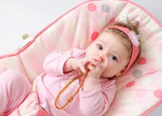 Bursztyn dla dzieci, naszyjnik z bursztynu na ząbkowanie