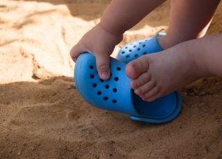 buty na lato, klapki dla dziecka, crocsy