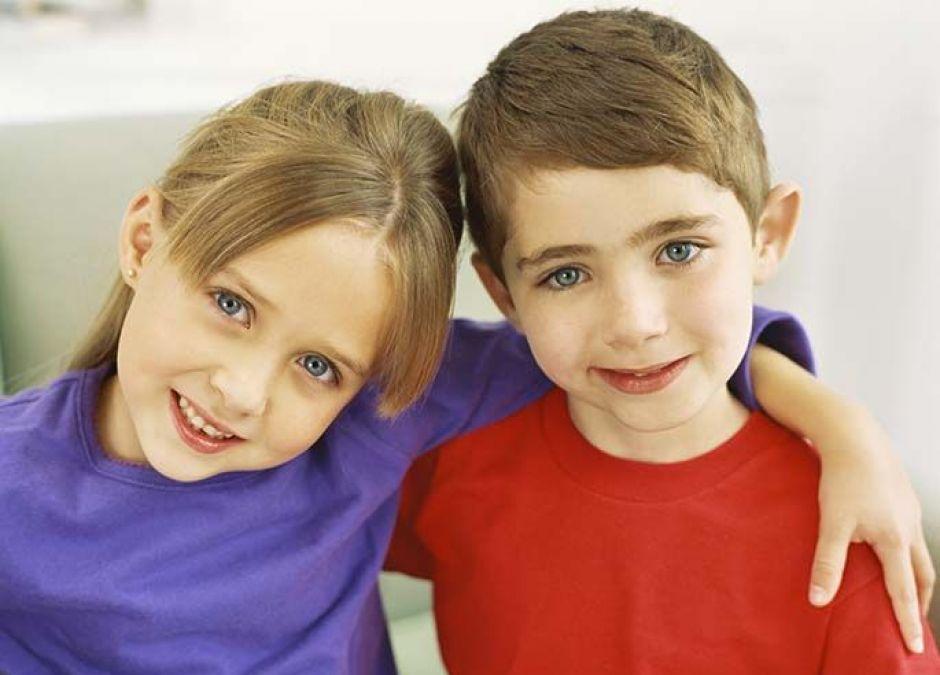 chłopiec, dziewczynka, dzieci, brat, siostra, rodzeństwo
