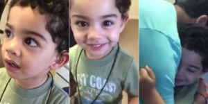 Chłopiec pierwszy raz od utraty słuchu usłyszał głos mamy