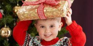 chłopiec, prezent, święta