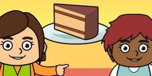 chocolate cake, ciasto, gra dla dzieci, angielski dla dzieci