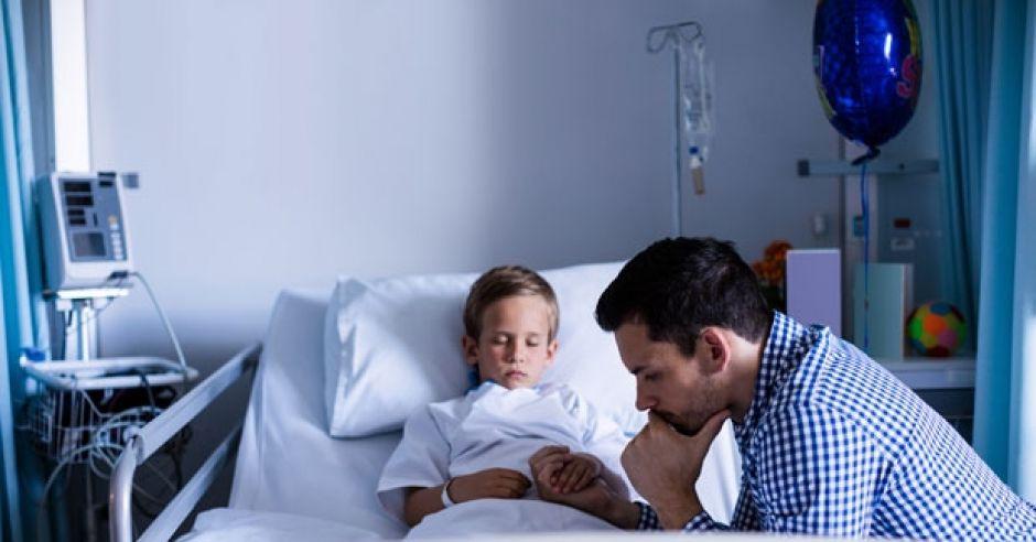 chore dziecko, epidemia grypy, dziecko w szpitalu