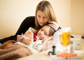 Chore dziecko i gorączka