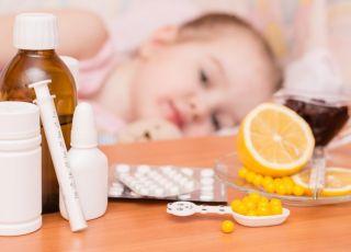 Chore dziecko w domu