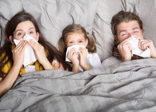Chorzy, dziecko, rodzice, rodzina, katar