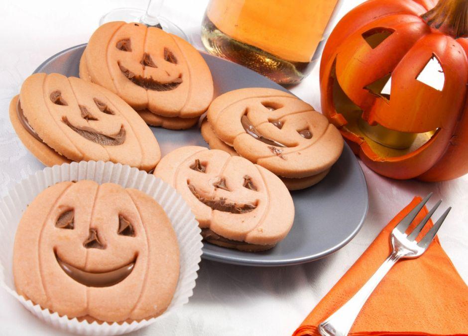 ciastka, dynie, dynia, halloween