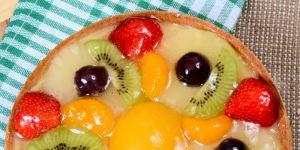 ciasto, owoce, deser, budyń